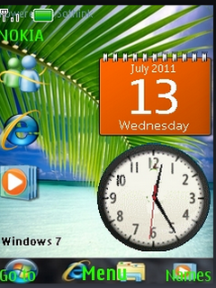 Windows 7 Clock S40 Theme Mobile Theme