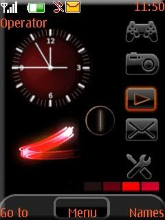 Red Tools Clock S40 Theme Mobile Theme
