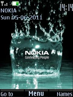 Nokia 3D Splash Tone S40 Theme Mobile Theme