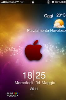 Rainbow Apple IPhone Theme Mobile Theme