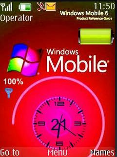 Windows Mobile Clock S40 Theme Mobile Theme
