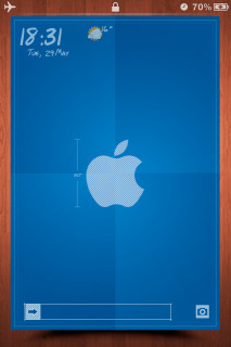 Apple Blue Clock IPhone Theme Mobile Theme