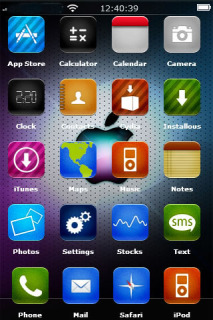 Rainbow Apple For IPhone Theme Mobile Theme