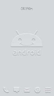 Smile Droid Gray Android Theme Mobile Theme