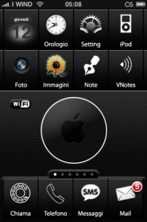 Black Apple For IPhone Theme Mobile Theme