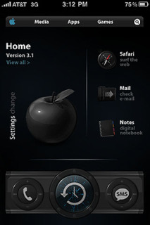 Dark View Setting & Apple IPhone Theme Mobile Theme