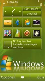 Green Windows Se7en Nokia Theme Mobile Theme