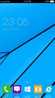 Blue Windows Free Android Theme Mobile Theme