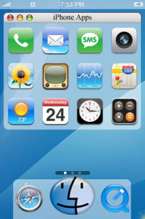 MacOs Blue ICons IPhone Theme Mobile Theme