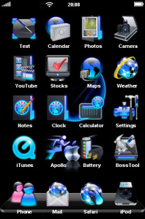 Blue Silver Apple Speed IPhone Theme Mobile Theme