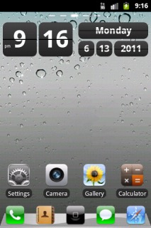 Drops Screen & Htc Style Android Theme Mobile Theme