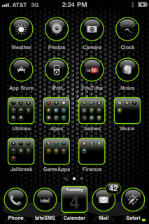 Black Texture Simple IPhone Theme Mobile Theme