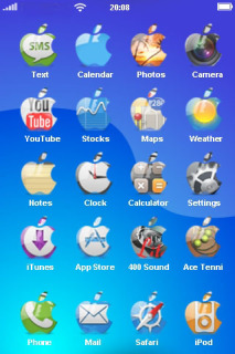 Glass Apple Free IPhone Theme Mobile Theme
