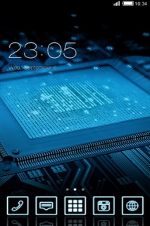 Computer Motherboard Chip Android Theme Mobile Theme