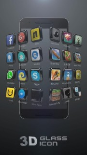 3D Glass ICon Apps Android Theme Mobile Theme