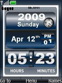 Nokia 6500 Slide Clock Mobile Theme