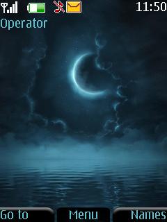 Animated Moon Mobile Theme