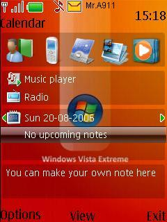 Vista Orange Mobile Theme