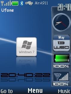 Windows-7 Blue Mobile Theme