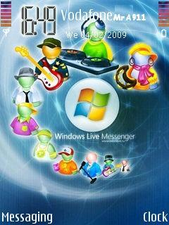 Messanger Live Mobile Theme