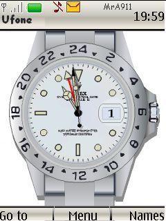 Clock Rolex Mobile Theme