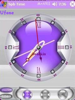 Purple Clock Mobile Theme