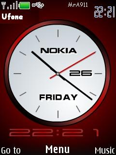 Modern Clock Mobile Theme