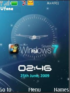 Windows 7 Clock Mobile Theme