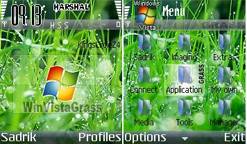 Windows Vista Grass Mobile Theme