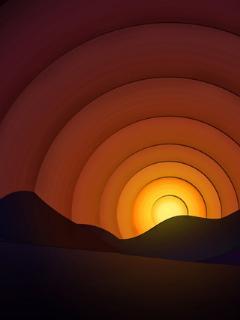 Abstract Sunset Art  Mobile Wallpaper
