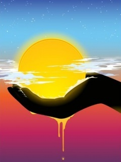 Abstract Sun Mobile Wallpaper