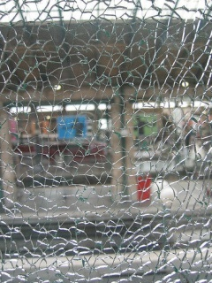 Damage Window Mobile Wallpaper