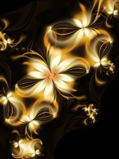 Gold Flower Mobile Wallpaper