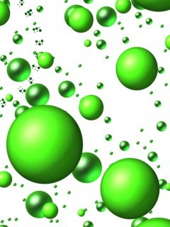 Green Bubbles Mobile Wallpaper