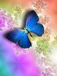 Violet Buttlerfly Mobile Wallpaper
