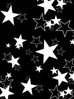 White Stars Mobile Wallpaper