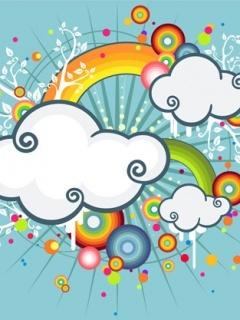 Cute Clouds Mobile Wallpaper