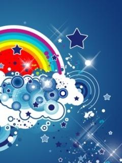 Cute Rainbow Mobile Wallpaper