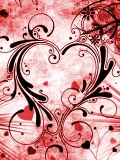 Luv Heart Mobile Wallpaper