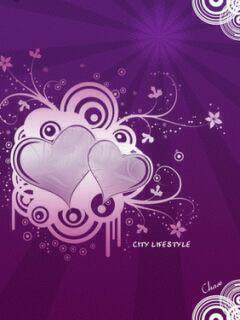 Purple City Mobile Wallpaper