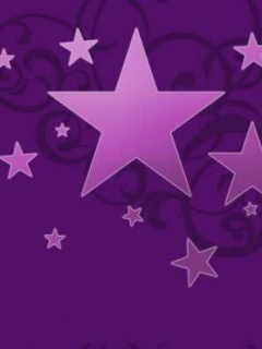 Purple Stars Mobile Wallpaper