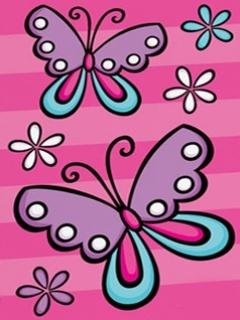 Cute Butterflies Mobile Wallpaper