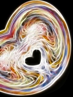 Swirly Heart Mobile Wallpaper