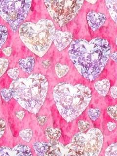 Diamond Heart Mobile Wallpaper