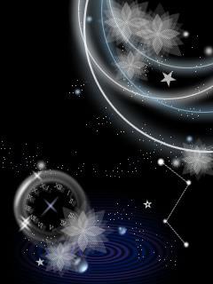 Sky Clock Mobile Wallpaper