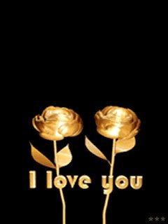 Gold Love Mobile Wallpaper