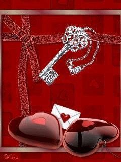 Love Red Heart Mobile Wallpaper
