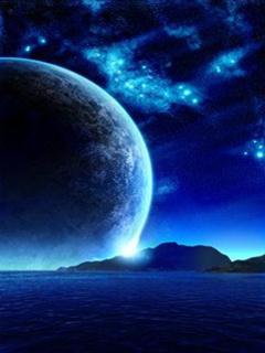 Blue Moon  Mobile Wallpaper