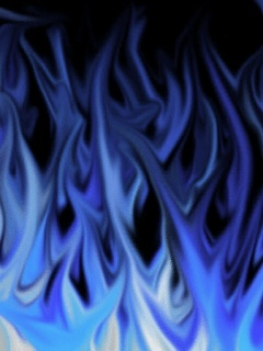 Blue Flame Mobile Wallpaper