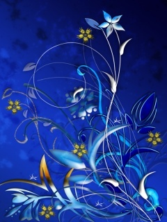 Blue Lamour Mobile Wallpaper